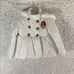 Disney Belle puffer jacket size 3 toddler
